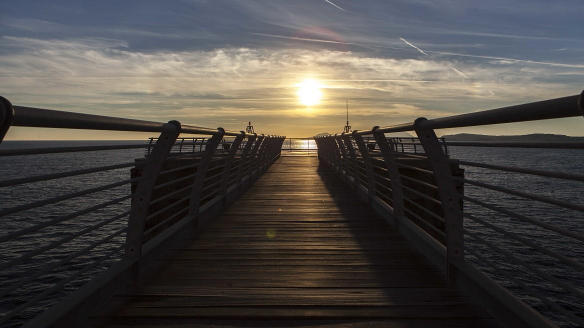 Il tramonto sul Pontile #229